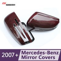 Mercedes A C E CLS GLA CLA replacement wing mirror covers for 2007+ benz w204 w117 w176 w212 w207 w218 carbon fiber car styling
