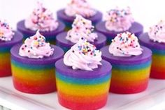 rainbow cake jello double rainbow cake jelly shot rainbow jelly ...