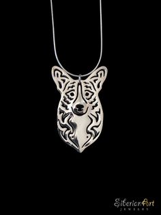 Cardigan Welsh Corgi - sterling silver pendant and necklace. $99.00, via Etsy.