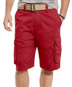 Mens cargo shorts Tan or cream men's cargo shorts. Has a fixed rip ...