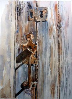 Lors de ma dernière expo - Mes Petites Propriétés Watercolor Texture, Watercolor Paintings, Watercolour, Art Rustique, Art Fantaisiste, Rustic Hardware, Photo D Art, Rustic Art, Art Moderne