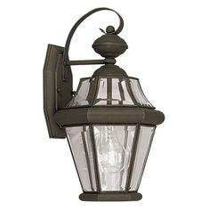 Livex Georgetown 2161-07 Outdoor Wall Lantern - 15H in. Bronze - 2161-07