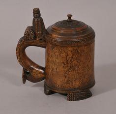 Norwegian Burr Birch Peg Tankard : The British Antique Dealers' Association