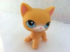 Littlest Pet Shop 71 Orange Siamese Cat Blue Eyes | eBay