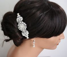 Bridal hair Comb Wedding Hair Accessories  by LuluSplendor on Etsy, $125.00