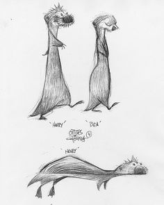 Carter Goodrich Otters || CHARACTER DESIGN REFERENCES |