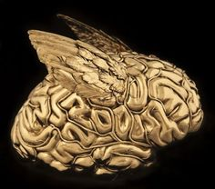 Jan #Fabre  Golden human #brain with #angel #wings, 2011