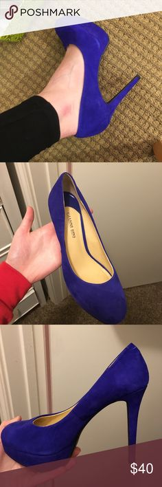 Gianni Bini Heels Size 7, worn once. Like brand new. A nice platform so they don't hurt your feet. About a 6 inch heel. Beautiful color and easy to walk in! Gianni Bini Shoes Heels