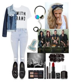 """Concert outfit"" by anadoribeljimenez ❤ liked on Polyvore featuring Topshop, Joshua Sanders, H&M, Frends, Essie, Laura Mercier, Bobbi Brown Cosmetics, NARS Cosmetics and claireto40contest"