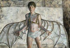 Daniel Barkley. Dare Devil, 2004, acrylic on canvas, 74 x 107 cm, 29in x 42in