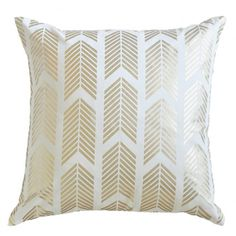 Caitlin Wilson Textiles: Gold Arrows Pillow