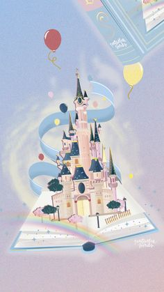 Illustration chateau Disneyland Paris. – Natacha Birds – Portfolio