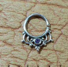 925 Silver Septum-septum ring-septum ring for pierced nose-silver septum-septum piercing-septum  ring-septum hoop-nose hoop-nose jewelry by NOAJEWELRY1 on Etsy