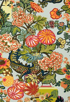 Chiang Mai Dragon Schumacher Wallcovering