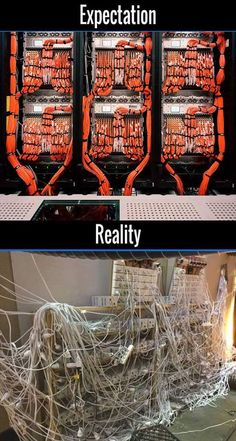 expectaion vs reality of cable network Microsoft Windows, Network Cable, It Network, Computer Programming, Computer Science, Electrician Humor, Structured Cabling, Linux, Server Room