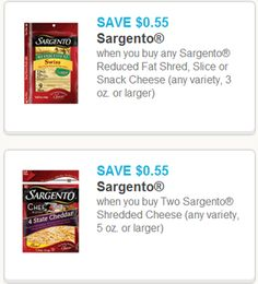 Sargento Cheese Coupons!