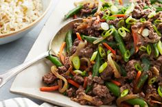 Stir-Fried Beef and Green Beans recipe healthy-living-recipes Beef And Green Beans Recipe, Green Bean Recipes, Asian Recipes, Beef Recipes, Cooking Recipes, What's Cooking, Kraft Recipes, Yummy Vegetable Recipes, Healthy Living Recipes
