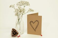 Love candy cane card Candy Cane, Place Cards, Place Card Holders, Prints, Barley Sugar, Candy Canes