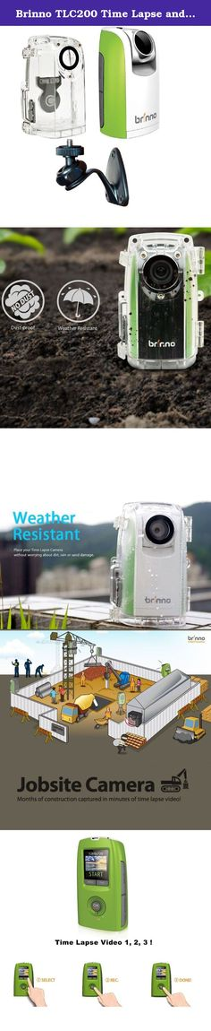 "Brinno TLC200 Time Lapse and Stop Motion HD Video Camera - Green (BCC50 2016 Bundle). The TLC200 Bundle from Brinno is a simple solution for creating high definition time lapse videos with ease--whether you're recording plants growing in a home garden, the sun setting on a beach or view months of construction in just minutes! In just three easy steps you can record and create interesting time lapse videos. First, using the 36mm (35mm equivalent) rotatable lens and 1.44"" TFT LCD display…"