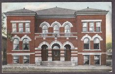 Old Postcard Jackson MI Elks Temple 1912 Michigan | eBay