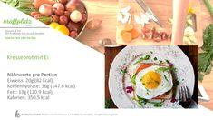 Heute wieder mal ein Klassiker, Kressebrot mit Ei ;) Nicht nur unglaublich lecker, sondern auch schnell zubereitet :) Eggs, Breakfast, Cress, Brot, Food Portions, Recipies, Morning Coffee, Egg, Egg As Food
