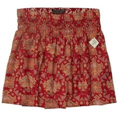 Scotch & Soda Retro Printed Beach Skirt ($78) ❤ liked on Polyvore