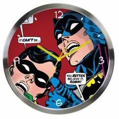 Relógio de Parede DC Batman e Robin - Looking Up