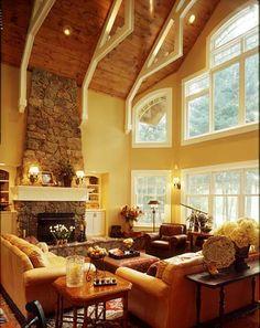 great room furniture ideas. The Great Room\u0027s Impressive Wall Of Windows Brings Outdoors Inside. Room Furniture Ideas