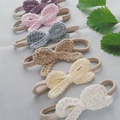 Crochet headband one size fits all Nylon ! cotton yarn One size fits all nylon band Choose you Crochet Hair Clips, Crochet Bows, Crochet Hair Styles, Cute Crochet, Crochet For Kids, Easy Crochet, Crochet Flowers, Knit Crochet, Crochet Pikachu