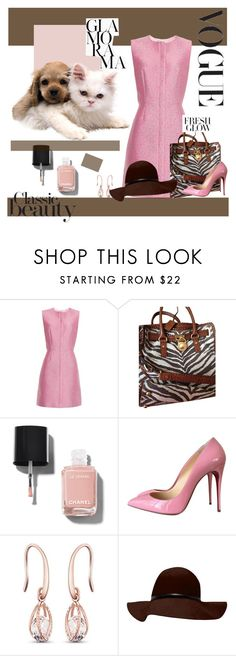 """""""Untitled #449"""" by jewelryrecipe ❤ liked on Polyvore featuring Balenciaga, Michael Kors, Chanel and Christian Louboutin"""