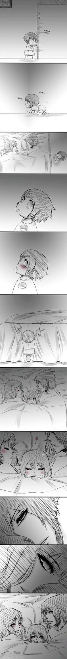 Sasuke, Sakura and Sarada. OH THE FEELS. THAT IS SO CUTE.