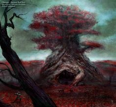 Chosain Ancient Red Tree concept art from the video game Age of Conan: Unchained by Torstein Nordstrand
