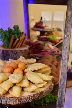 Rustic appetizer buffet setup / picaderas / bocadillos by KettyDelights