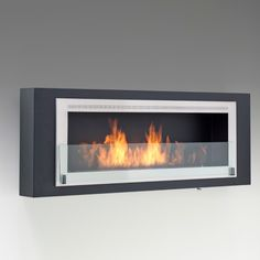Shop and Save on the Eco-Feu Santa Cruz Wall Mount Ethanol Fireplace and all other clean burning, Eco-friendly fireplaces with Free Shipping at CleanFlames.com!
