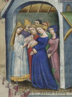 Arsenal MS 5070, reserve, fol. 137, detail. The Decameron, Giovanni Boccaccio, 1432.
