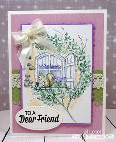 Watercolor Class Exclusive stamp set card by Jil Lebel Pen And Watercolor, Watercolor Flowers, Watercolor Paintings, Scrapbook Expo, Scrapbooking, Art Impressions Stamps, Handmade Card Making, Window Cards, Watercolour Tutorials