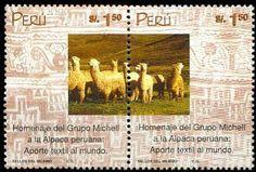2000: Alpaca Wool Industry (פרו) Mi:PE 1727-1728,Sn:PE 1252
