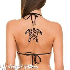 Hawaiian black simple tribal sea surfer wave turtle temporary tattoos men women – Online Pin Page Hawaiian Turtle Tattoos, Tribal Turtle Tattoos, Turtle Tattoo Designs, Tribal Tattoos For Women, Tattoos For Guys, Irezumi Tattoos, Marquesan Tattoos, Temporary Tattoos For Adults, Small Tattoos