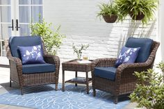 Wicker Lounge Chair, Patio Lounge Chairs, Outdoor Lounge, Outdoor Living, Outdoor Decor, Outdoor Spaces, Front Porch Chairs, Wicker Chairs, Rocking Chairs