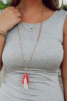 Long Tassel Necklace | UOIOnline.com: Women's Clothing Boutique