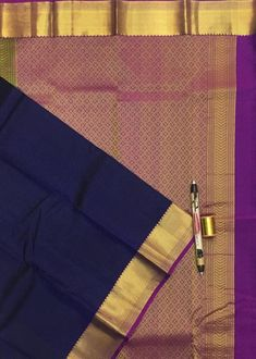 Navy blue pure kanchipuram silk saree Kanjivaram Sarees, Kanchipuram Saree, Silk Sarees, Navy Blue, Trending Outfits, Pure Products, Etsy, Fashion, Moda