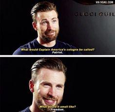 Captain America >>> ok dumb but funny...
