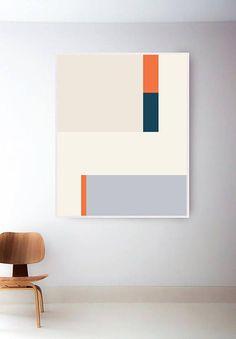 Abstract Mid Century Modern Print Retro Geometric Print