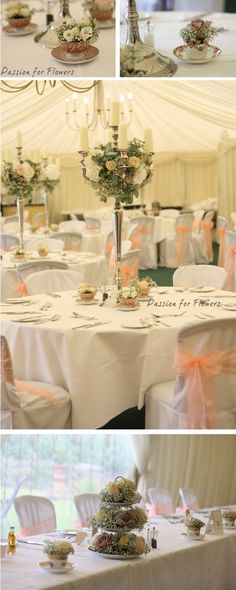 Peaches And Cream Wedding Flowers At Grafton Manor