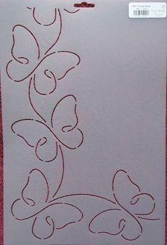"Stencil Quilting Promise Border 4 1 4"" 11cm RB45 Butterflies Butterfly Quilt   eBay:"
