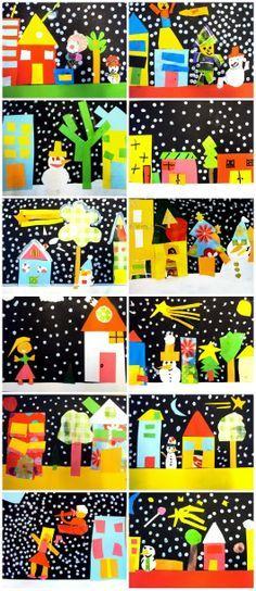 Christmas collages,seen at http://www.plastiquem.blogspot.com.es/