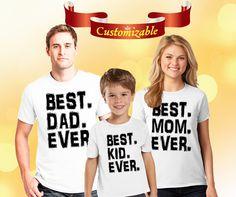 Best family Custom shirt for family members, best dad gift, best mom shirt, best boy, best girl gift, family matching shirts, best tshirt by Maridana on Etsy