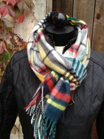 Barbour Bright Country Plaid Lambswool Scarf