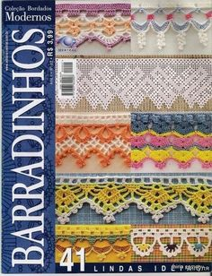 Over 30 pattern diagrams for some truly gorgeous edgings #crochet #edging...great stuff here!