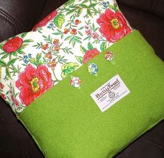 Harris tweed cushion idea